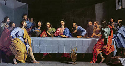 Disciples Painting - The Last Supper by Philippe de Champaigne
