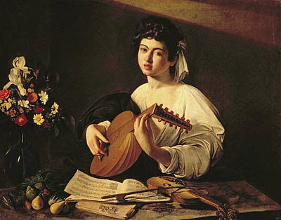 Lute Painting - The Lute Player by Caravaggio