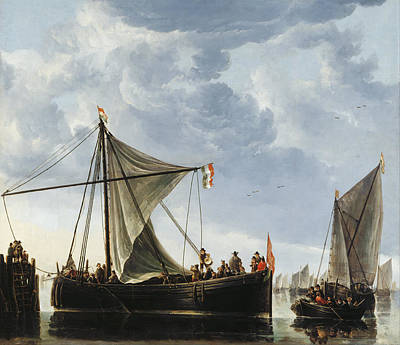 Townscape Painting - The Passage Boat by Aelbert Cuyp