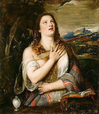 Mary Magdalene Painting - The Penitent Magdalene by Titian