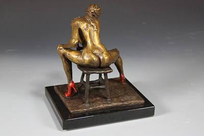 Nude Sculpture - The Red Heels by Dan Earle