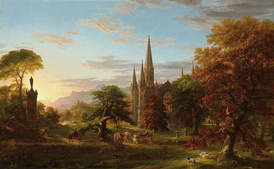 Cole Painting - The Return by Thomas Cole