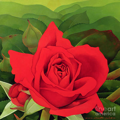 Leafy Painting - The Rose by Myung-Bo Sim