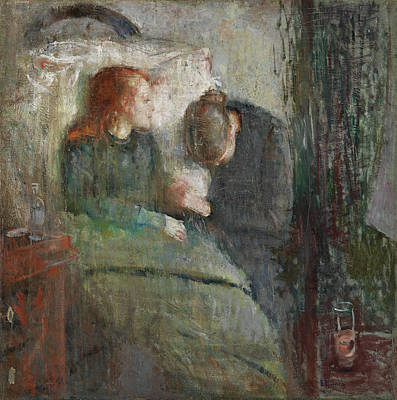 Architectural Painting - The Sick Child by Edvard Munch