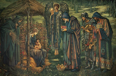 Biblical Scene Painting - The Star Of Bethlehem by Edward Burne-Jones