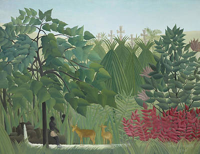 Rousseau Painting - The Waterfall by Henri Rousseau