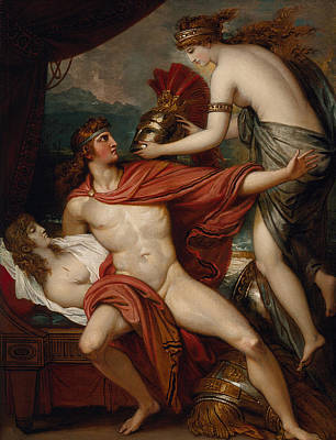 Thetis Bringing The Armor To Achilles Print by Benjamin West