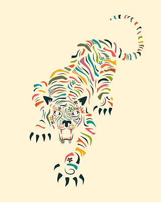 Tiger Print by Jazzberry Blue