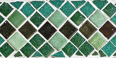 Pool Photograph - Tiles by Tom Gowanlock