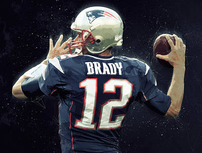 Tom Brady Print by Semih Yurdabak