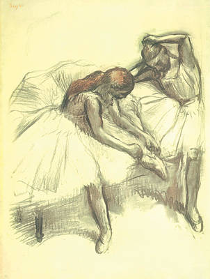 Impressionism Drawing - Two Dancers by Edgar Degas