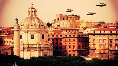 Xfiles Digital Art - Ufo Rome by Raphael Terra