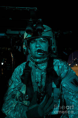 Uh-60 Black Hawk Crew Chief Print by Terry Moore