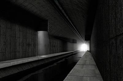 Waste Digital Art - Underground Sewer by Allan Swart