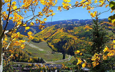 All Around Us Photograph - Mountain View Of Vail Colorado by Fiona Kennard