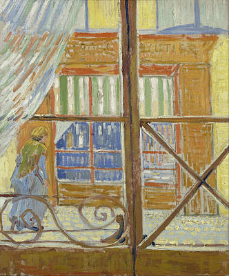 Streetscape Painting - View Of A Butcher's Shop by Vincent van Gogh