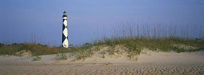 View Of Cape Lookout Lighthouse Print by Stephen Alvarez