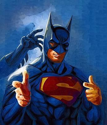 Batman Digital Art - Vs Batman by Egor Vysockiy