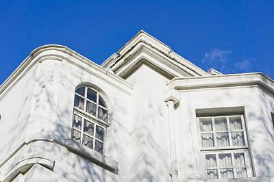 Brick Building Photograph - White Building by Tom Gowanlock