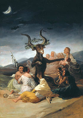 Wicca Painting - Witches Sabbath by Francisco Goya