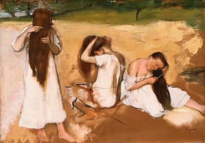 Lady Painting - Women Combing Their Hair by Edgar Degas