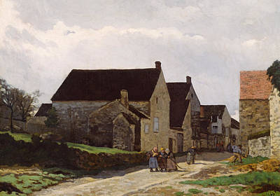 Painting - Women Going To The Woods by Alfred Sisley