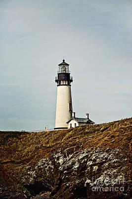 Yaquina Head Lighthouse Print by Scott Pellegrin