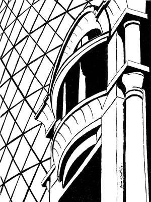 London Skyline Drawing - 30 Saint Mary Axe, London. by Brian Keating
