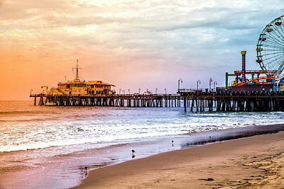 Rollercoaster Photograph - Santa Monica Pier Collection- 14/36 by Gene Parks