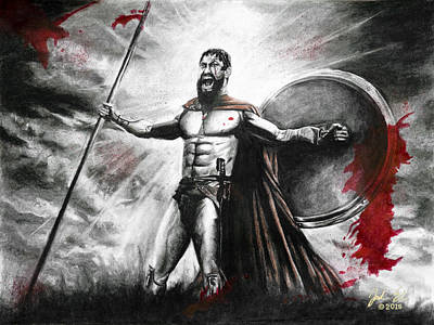 300 King Leonidas Print by Jordan Spector