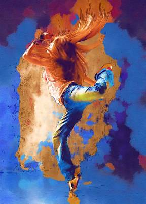 Pop Digital Art - Dance You by Michael Vicin