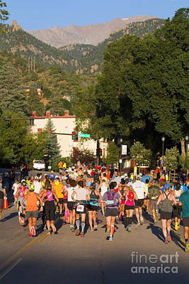 Pikes Peak Marathon And Ascent Print by Steve Krull