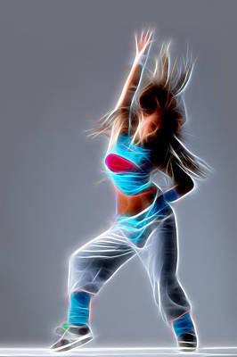 Hip Digital Art - And Dance by Michael Vicin