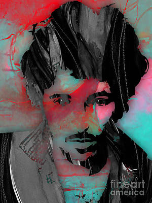 Band Mixed Media - Bruce Springsteen Collection by Marvin Blaine