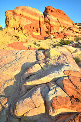 Valley Of Fire Print by Ray Mathis