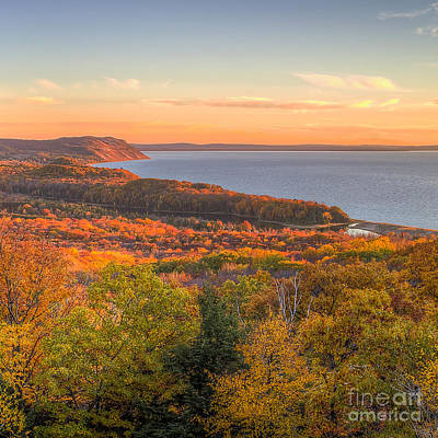 Fall In Sleeping Bear Dunes Print by Twenty Two North Photography