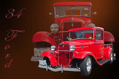 34 Ford Pick Up Print by Jim  Hatch