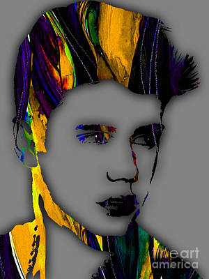 Pop Mixed Media - Justin Bieber Collection by Marvin Blaine