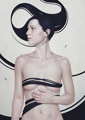 Hair Painting - 347 by Diego Fernandez