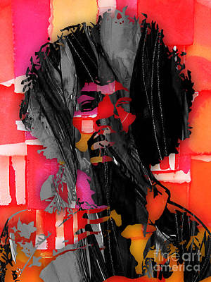 Rock And Roll Mixed Media - Jimi Hendrix Collection by Marvin Blaine