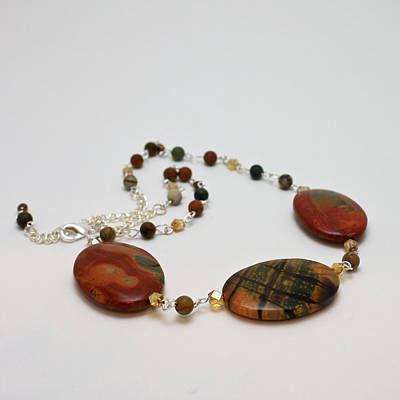 Necklace Jewelry - 3586 Picasso Jasper Necklace by Teresa Mucha