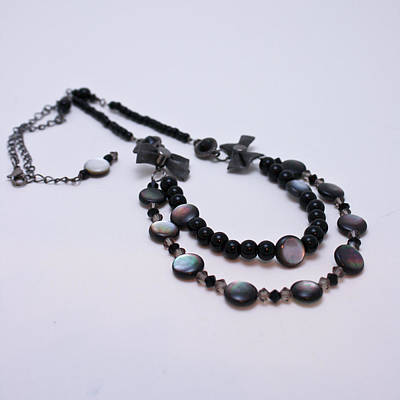 3587 Fun Gunmetal Necklace  Original by Teresa Mucha