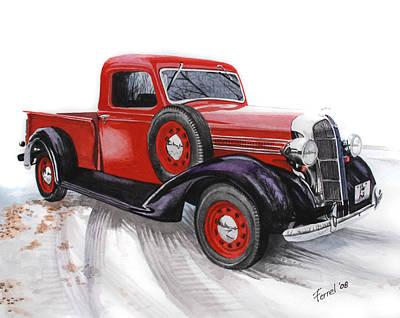 Car Painting - 36 Dodge by Ferrel Cordle