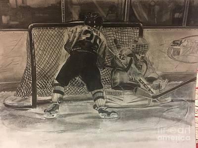 Youth Hockey Drawing - #36 Vince Morsa  by Gary Reising
