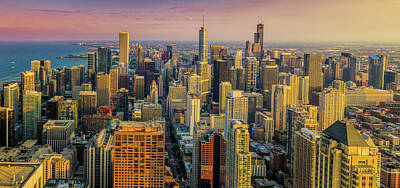 City Photograph - 360chicago Golden Minute by Scott Campbell