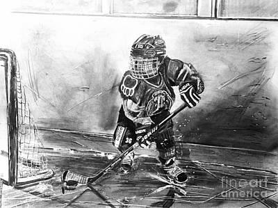 Youth Hockey Drawing - #36jamesboyle by Gary Reising