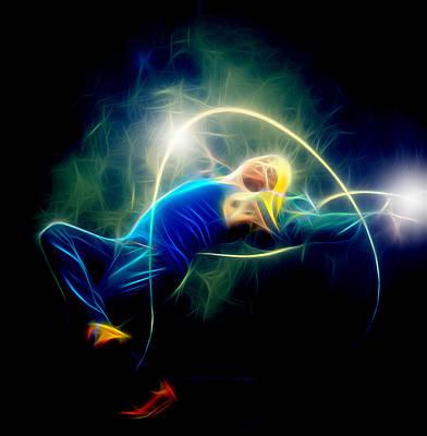 Music Digital Art - Dance With by Michael Vicin