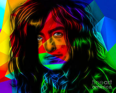 Jimmy Page Mixed Media - Jimmy Page Collection by Marvin Blaine
