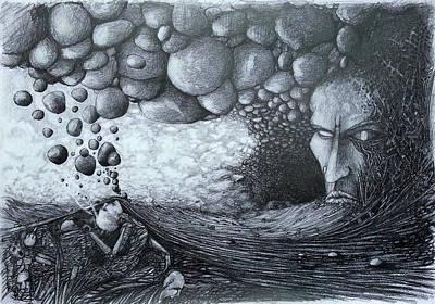 Drawing - No Title by Mariusz Zawadzki