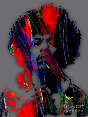 Jimi Hendrix Collection Print by Marvin Blaine